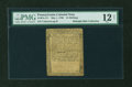 Colonial Notes:Pennsylvania, Pennsylvania May 1, 1760 15s PMG Fine 12 NET....