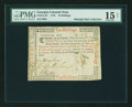Colonial Notes:Georgia, Georgia 1776 10s PMG Choice Fine 15 NET....