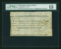 Colonial Notes:Continental Congress Issues, Continental Currency September 27, 1785 Indent $1 PMG Choice Fine15....