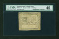Colonial Notes:Pennsylvania, Pennsylvania March 25, 1775 4s PMG Choice Extremely Fine 45....