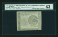 Colonial Notes:Continental Congress Issues, Continental Currency September 26, 1778 $60 Blue Detector PMGChoice Uncirculated 63....
