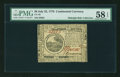 Colonial Notes:Continental Congress Issues, Continental Currency July 22, 1776 $6 PMG Choice About Unc 58EPQ....
