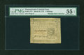 Colonial Notes:Pennsylvania, Pennsylvania March 25, 1775 6s PMG About Uncirculated 55 EPQ....