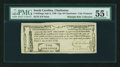 Colonial Notes:South Carolina, South Carolina July 6, 1789 City of Charleston 2s PMG AboutUncirculated 55 EPQ....