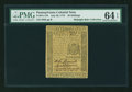 Colonial Notes:Pennsylvania, Pennsylvania July 20, 1775 30s PMG Choice Uncirculated 64 EPQ....