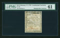 Colonial Notes:Continental Congress Issues, Continental Currency February 17, 1776 $1/3 PMG Uncirculated 61....