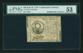 Colonial Notes:Continental Congress Issues, Continental Currency July 22, 1776 $30 Contemporary Counterfeit PMGAbout Uncirculated 53....