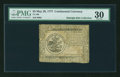 Colonial Notes:Continental Congress Issues, Continental Currency May 20, 1777 $5 PMG Very Fine 30....