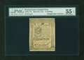 Colonial Notes:Pennsylvania, Pennsylvania March 25, 1775 14s PMG About Uncirculated 55 EPQ....