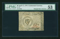 Colonial Notes:Continental Congress Issues, Continental Currency April 11, 1778 $8 PMG About Uncirculated 53....