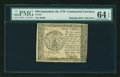 Colonial Notes:Continental Congress Issues, Continental Currency September 26, 1778 $40 PMG Choice Uncirculated 64 EPQ....