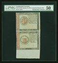 Colonial Notes:Continental Congress Issues, Continental Currency January 14, 1779 $1 and $2 Detector Pair PMGAbout Uncirculated 50....