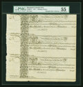 Colonial Notes:Maryland, Maryland 1733 1s6d Sheet of Three PMG About Uncirculated 55....
