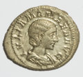 Ancients:Ancient Lots  , Ancients: Roman Imperial. Lot of three silver and bronze coins....(Total: 3 coins)