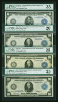 Large Size:Group Lots, Four Federal Reserve Notes PMG Graded.. ... (Total: 4 notes)