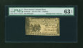 Colonial Notes:New Jersey, New Jersey June 22, 1756 1s PMG Choice Uncirculated 63 EPQ....