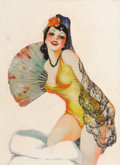 Pin-up and Glamour Art, WILLIAM FULTON SOARE (American, 1896-1940). Fandang Oh!. Oilon canvas. 27 x 20 in.. Not signed. ...