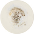 Movie/TV Memorabilia:Original Art, Frank Sinatra Drawing on China Saucer, Signed....