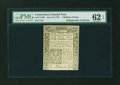 Colonial Notes:Connecticut, Connecticut June 19, 1776 1s3d PMG Uncirculated 62 EPQ....