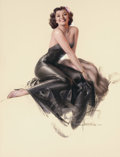 Pin-up and Glamour Art, ROLF ARMSTRONG (American, 1889-1960). Pin-Up in Black.Pastel on board. 38 x 28.5 in.. Signed lower right. ...