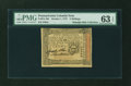 Colonial Notes:Pennsylvania, Pennsylvania October 1, 1773 5s PMG Choice Uncirculated 63 EPQ....