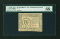 Colonial Notes:Continental Congress Issues, Continental Currency November 2, 1776 $8 PMG Gem Uncirculated 66EPQ....