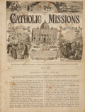 Books:Periodicals, Volume of Bound Issues of Illustrated Catholic Missions.London: J. Donovan. Includes Volume I-IV, 1886-1890....