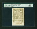 Colonial Notes:Rhode Island, Rhode Island May 1786 6d PMG Superb Gem Unc 67 EPQ....
