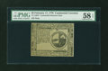 Colonial Notes:Continental Congress Issues, Continental Currency February 17, 1776 $2 PMG Choice About Unc 58EPQ....