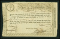 Colonial Notes:Continental Congress Issues, Massachusetts State Lottery, Class the Fourth £15 February 5, 1780.Anderson MA 16. Very Fine+....