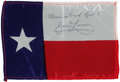Explorers:Space Exploration, Apollo 8 Flown Texas State Flag Directly from the Personal Collection of Mission Command Module Pilot James Lovell, Certified ...