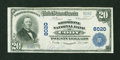 National Bank Notes:Wyoming, Cody, WY - $20 1902 Plain Back Fr. 651 The Shoshone NB Ch. # 8020....