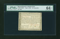 Colonial Notes:Massachusetts, Massachusetts May 5, 1780 $7 Contemporary Counterfeit PMG ChoiceUncirculated 64 EPQ....