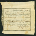 Colonial Notes:Continental Congress Issues, Pennsylvania Interest Bearing Certificate Aug. 17, 1780. Anderson PA 2. Fine....