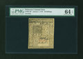Colonial Notes:Delaware, Delaware January 1, 1776 20s PMG Choice Uncirculated 64 EPQ....