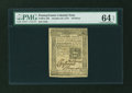 Colonial Notes:Pennsylvania, Pennsylvania October 25, 1775 18d PMG Choice Uncirculated 64EPQ....