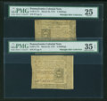 Colonial Notes:Pennsylvania, Pleasing Group of Mid-Grade Pennsylvania March 25, 1775 Notes...(Total: 3 notes)