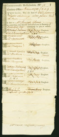 Colonial Notes:Continental Congress Issues, Treasury Tax Collector's Certificates. Fourteen Examples datedbetween November 1782 and January 1783. Anderson MA 38. Fine-Ve...(Total: 14 notes)