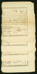 Colonial Notes:Continental Congress Issues, State of Massachusetts-Bay £10 Treasury Certificates Comm'tte Warat 6% Interest Oct. 14, 1778. Anderson MA 4. Four Examples. ...(Total: 4 notes)