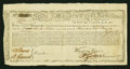 Colonial Notes:Continental Congress Issues, State of Massachusetts Bay Treasury Certificate at 6% Interest £900January 1, 1780. Anderson MA 22. Very Fine-Extremely Fine....