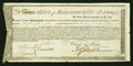 Colonial Notes:Continental Congress Issues, State of Massachusetts Bay Treasury Certificate at 6% Interest£268, 10s January 1, 1780. Anderson MA 20. Very Fine-Extremely ...