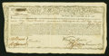 Colonial Notes:Continental Congress Issues, State of Massachusetts Bay Treasury Certificate at 6% Interest£2250 January 1, 1780. Anderson MA 22. Very Fine....