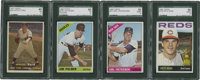 1957-1966 Topps Hall of Famers SGC-Graded Lot of 4