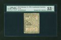 Colonial Notes:Continental Congress Issues, Continental Currency February 17, 1776 $1/3 PMG About Uncirculated53 NET....