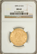 Liberty Eagles: , 1895-O $10 MS62 NGC. NGC Census: (78/12). PCGS Population (71/14).Mintage: 98,000. Numismedia Wsl. Price for NGC/PCGS coin...