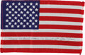 Explorers:Space Exploration, Gemini 12 Flown American Flag Directly from the Personal Collection of Mission Commander James Lovell, Certified and Signed....