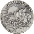 Explorers:Space Exploration, Apollo 13 Flown Silver Robbins Medallion Directly from the Personal Collection of Mission Commander James Lovell, Serial Numbe...