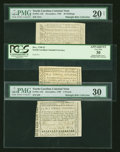 Colonial Notes:North Carolina, A Trio of December 1768 North Carolina Notes... (Total: 3 notes)
