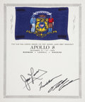 Explorers:Space Exploration, Apollo 8 Flown Wisconsin State Flag Directly from the Personal Collection of Mission Command Module Pilot James Lovell. ...