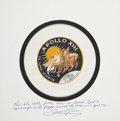 Explorers:Space Exploration, Apollo 13 Flown Beta Cloth Mission Insignia Patch Directly from thePersonal Collection of Mission Commander James Lovell, Cer...